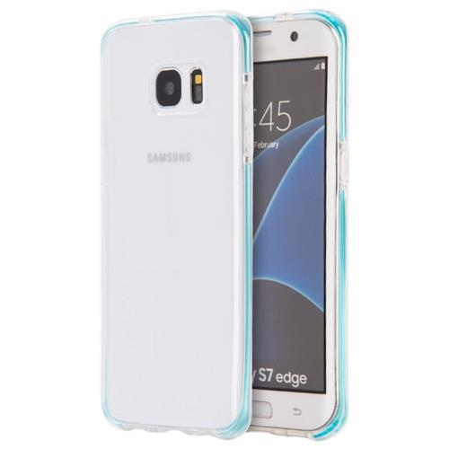 Insten Rubber Case For Samsung Galaxy S7 Edge, Clear/Blue