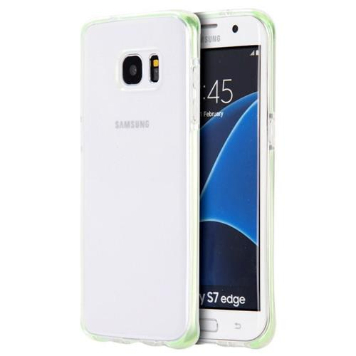 Insten Rubber Case For Samsung Galaxy S7 Edge, Clear/Green