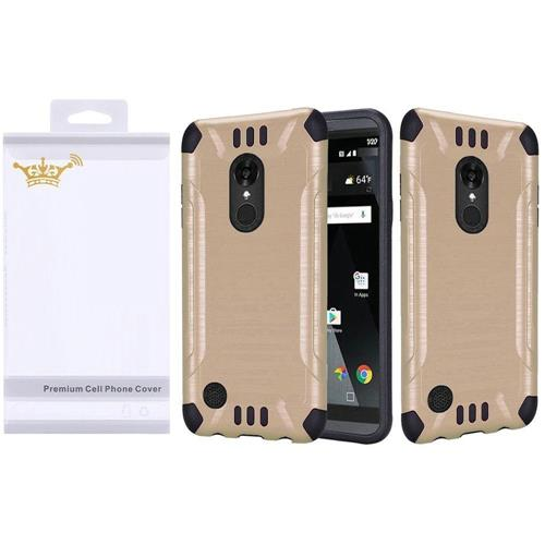 Insten Hard Dual Layer Silicone Cover Case For LG Aristo/K8 (2017), Gold