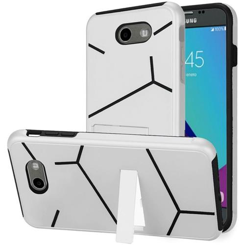 Insten Hard Case For Samsung Galaxy Amp Prime 2/Express Prime 2/J3 (2017)/J3 Eclipse, White