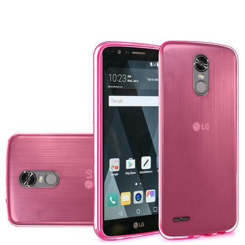 Insten Frosted Gel Cover Case For LG Stylo 3/Stylo 3 Plus, Hot Pink
