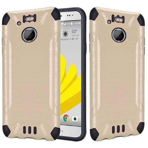 Insten Hard Dual Layer Rubberized Silicone Cover Case For HTC 10 EVO / Bolt, Gold
