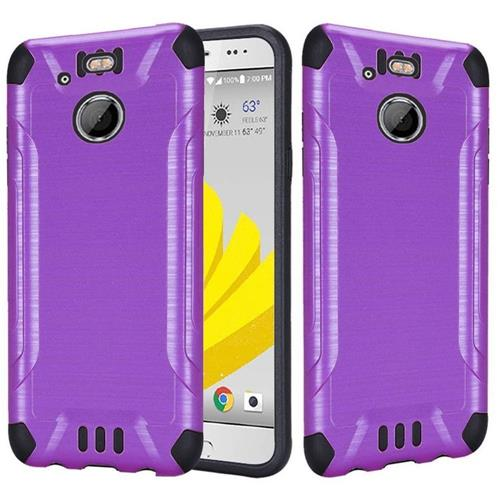 Insten Hard Dual Layer Rubber Coated Silicone Case For HTC 10 EVO / Bolt, Purple