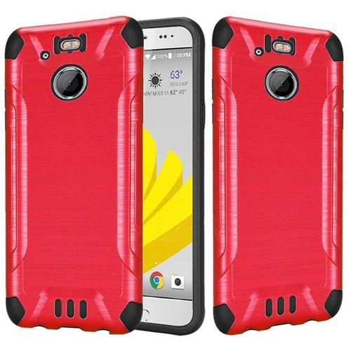 Insten Hard Dual Layer Rubberized Silicone Case For HTC 10 EVO / Bolt, Red