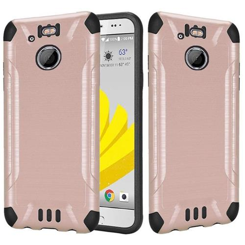 Insten Hard Dual Layer Silicone Cover Case For HTC 10 EVO / Bolt, Rose Gold