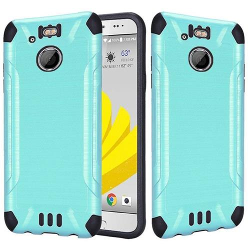Insten Hard Dual Layer Silicone Cover Case For HTC 10 EVO / Bolt, Teal/Black