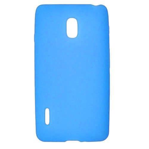 Insten Soft Rubber Cover Case For LG Optimus F7 US780 (US Cellular), Blue