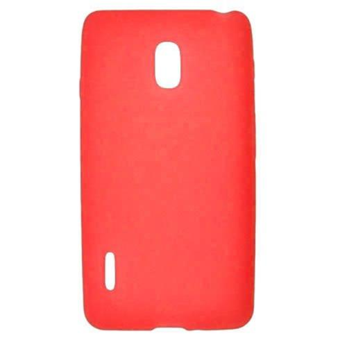 Insten Silicone Rubber Cover Case For LG Optimus F7 US780 (US Cellular), Red