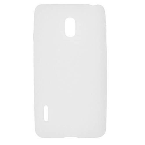 Insten Soft Rubber Cover Case For LG Optimus F7 US780 (US Cellular), White