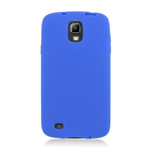 Insten Soft Rubber Case For Samsung Galaxy S4 Active, Blue