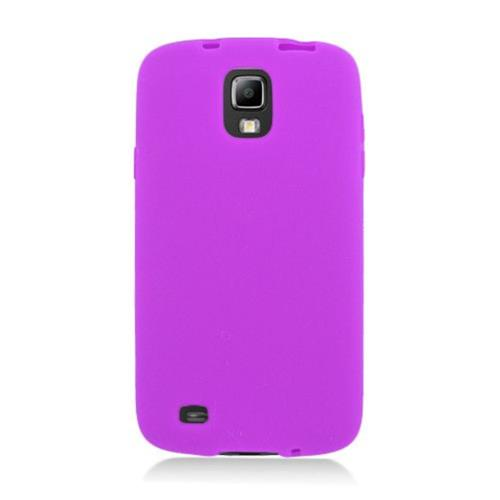 Insten Rubber Cover Case For Samsung Galaxy S4 Active, Purple