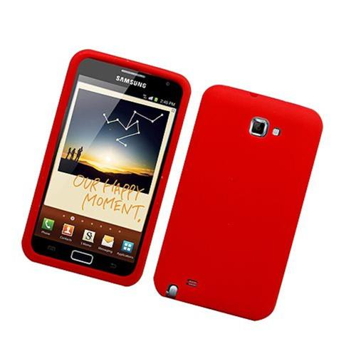 Insten Skin Rubber Cover Case For Samsung Galaxy Note LTE, Red