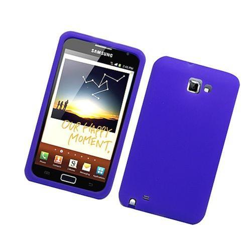 Insten Gel Rubber Case For Samsung Galaxy Note LTE, Purple