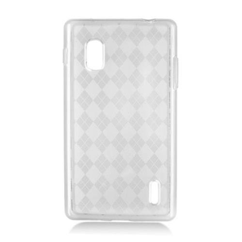 Insten Checker TPU Case For LG Optimus G E970, Clear