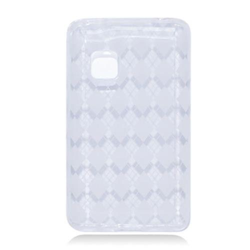 Insten Checker Rubber Cover Case For LG 840G, Clear