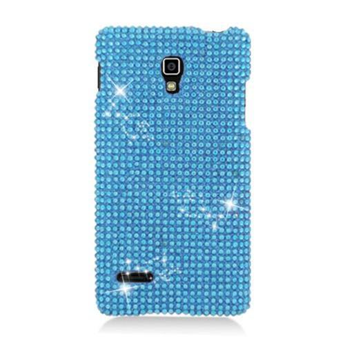 Insten Hard Bling Cover Case For LG Optimus L9 P769, Blue