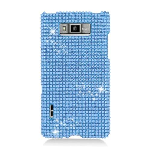 Insten Hard Diamante Case For LG Splendor US730 / Venice LG730, Blue