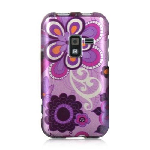 Insten Violet Hard Rubberized Case For Samsung Galaxy Attain 4G, Purple