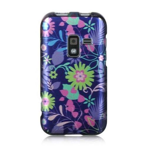 Insten Weed Hard Rubber Cover Case For Samsung Galaxy Attain 4G, Purple/Green