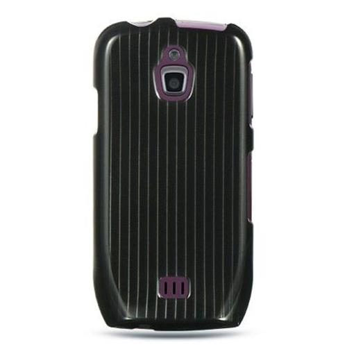 Insten Hard Rubber Coated Cover Case For Samsung Exhibit 4G T759, Black