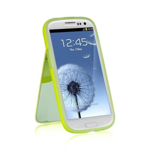 Insten Rubber Cover Case w/stand For Samsung Galaxy S3, Green