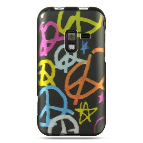 Insten Peace Hard Rubberized Cover Case For Samsung Conquer 4G, Black