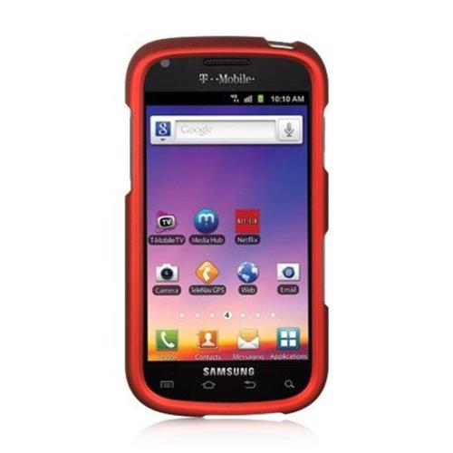 Insten Hard Rubberized Case For Samsung Galaxy S Blaze 4G, Red