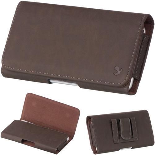 "Insten Flip Leather Furry Case w/Belt Clip For Samsung Galaxy Mega 6.3"" GT-I9200, Brown"
