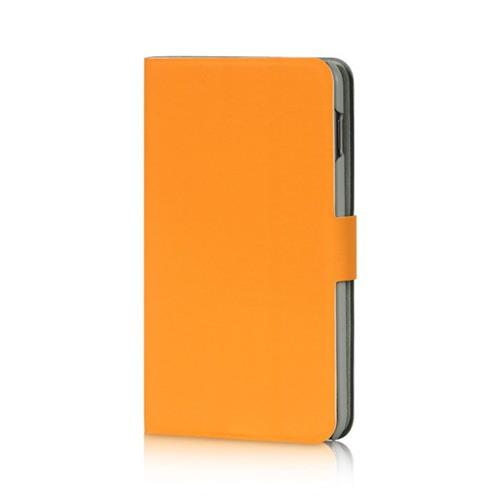 Insten Book-Style Leather Fabric Case w/stand For Samsung Galaxy Note, Orange