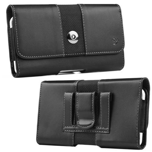Insten Book-Style Leather Fabric Cover Case For Samsung Galaxy Note, Black