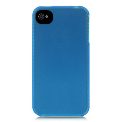Insten Skin Rubber Case For Apple iPhone 4/4S, Blue