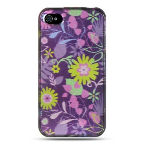 Insten Weed Hard Case For Apple iPhone 4/4S, Purple
