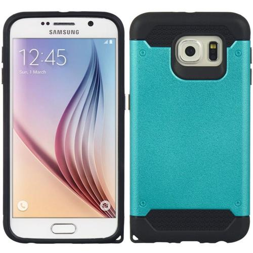 Insten Hard Dual Layer TPU Cover Case For Samsung Galaxy S6, Blue/Black