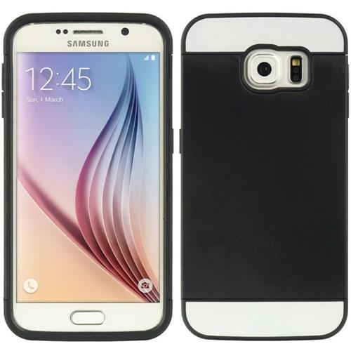 Insten Hard Dual Layer TPU Case w/card holder For Samsung Galaxy S6, Black