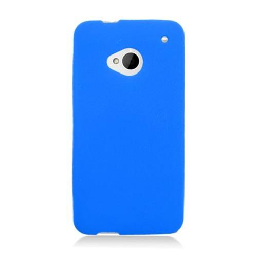Insten Soft Rubber Cover Case For HTC One M7, Blue