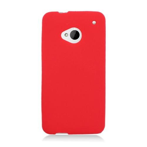 Insten Rubber Case For HTC One M7, Red