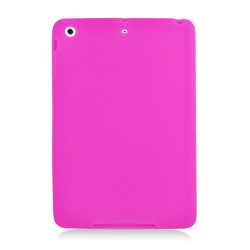 Insten Skin Rubber Case For Apple iPad Mini 2/3 - Hot Pink