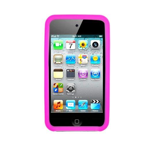 Insten Skin Rubber Case For Apple iPod Touch 4th Gen, Hot Pink