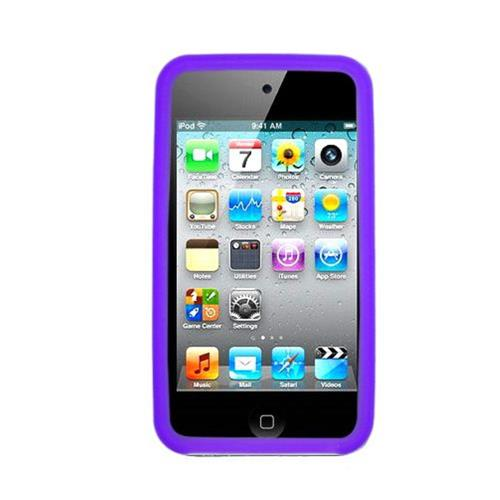 Insten Silicone Rubber Case For Apple iPod Touch 4th Gen, Purple