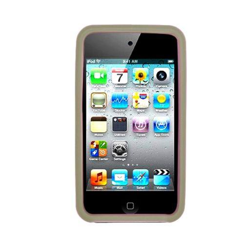 Insten Gel Rubber Case For Apple iPod Touch 4th Gen, Smoke