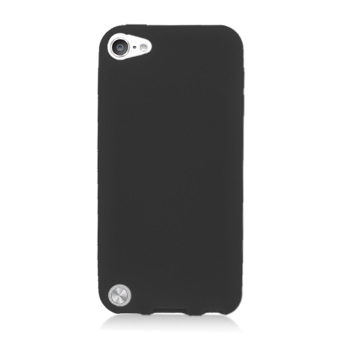 Insten Skin Rubber Case For Apple iPod Touch 5th Gen, Black