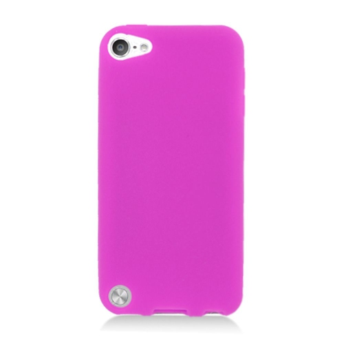 Insten Silicone Rubber Case For Apple iPod Touch 5th Gen, Hot Pink