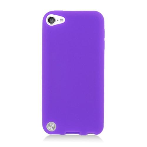 Insten Gel Rubber Case For Apple iPod Touch 5th Gen, Purple
