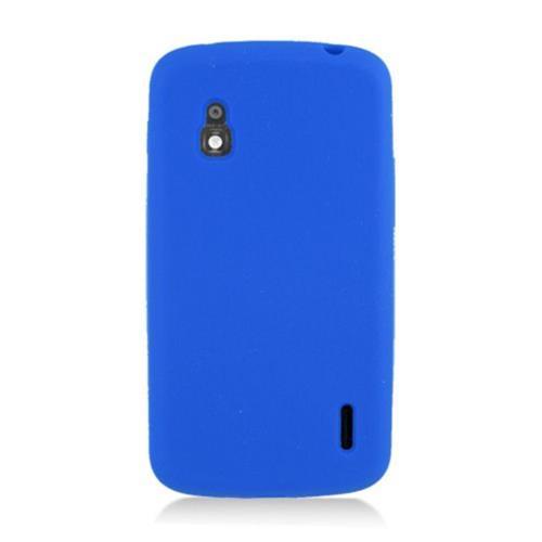 Insten Silicone Rubber Cover Case For LG Google Nexus 4 E960, Blue