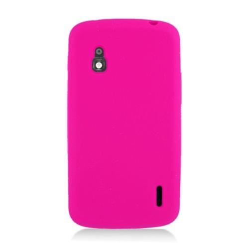 Insten Silicone Rubber Case For LG Google Nexus 4 E960, Hot Pink