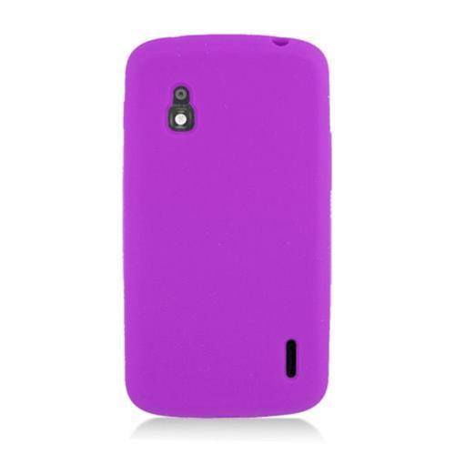 Insten Silicone Rubber Case For LG Google Nexus 4 E960, Purple