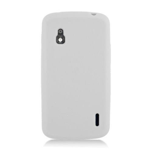 Insten Skin Rubber Cover Case For LG Google Nexus 4 E960, White