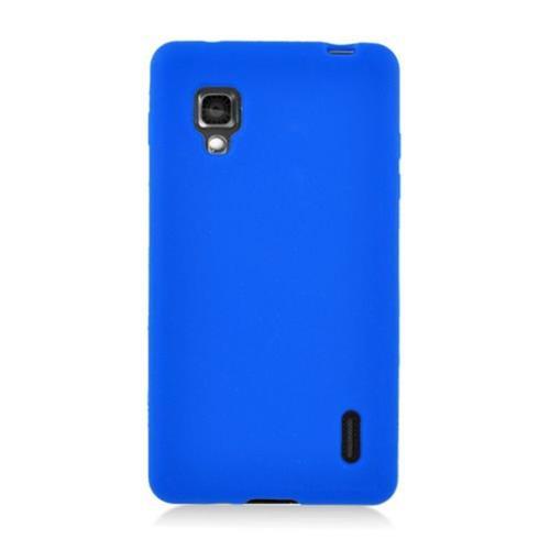 Insten Rubber Cover Case For LG Optimus G E970, Blue