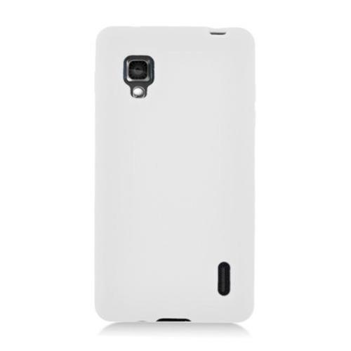 Insten Silicone Rubber Cover Case For LG Optimus G E970, White