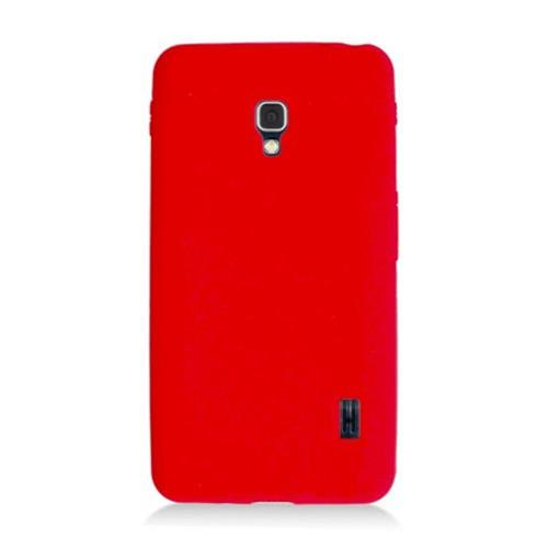 Insten Soft Rubber Case For LG Optimus F6 MS500, Red